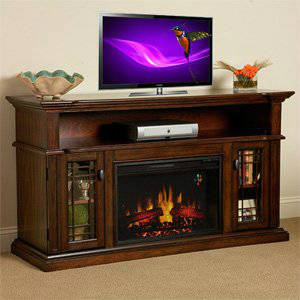 ChimneyFree Wallace 26inch Electric Fireplace Entertainment Center in Empire Cherry - 26MM1264EPC
