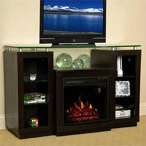 ClassicFlame Ashburn 18 Inch Electric Fireplace Entertainment Center In Espresso 18MM2280 E451
