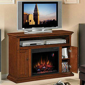 ClassicFlame Cannes 23 Inch Electric Fireplace Entertainment Center In Premium Cherry 23MM378 C202