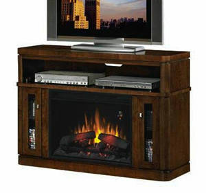 ClassicFlame Savannah 26 Inch Electric Fireplace Entertainment Center In Midnight Walnut 26MM1206 W503