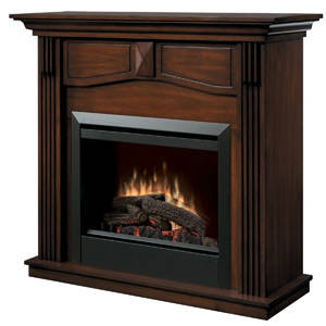 Dimplex Holbrook DFP4765BW Traditional Mantle with 23-Inch Firebox Burnished Walnut