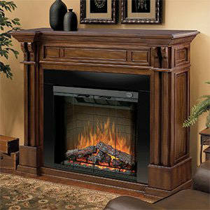 Dimplex Kendal Burnished Walnut Electric Fireplace Mantel Package GDS32 1164BW