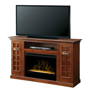 Dimplex Yardley Electric Fireplace Entertainment Center Glass Embers