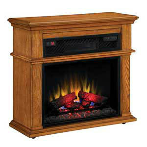 Duraflame Chandler 23 inch 1000 Sq Ft Oak Portable Fireplace Spectrafire Infrared Heater