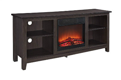 Walker Edison W58FP18ES Fireplace TV Stand
