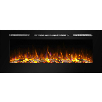 PuraFlame Alice Wall Mounted Recessed Electric Fireplace